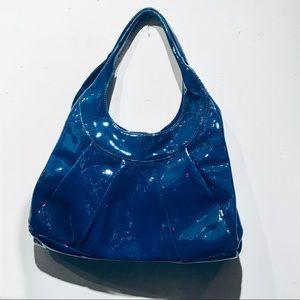 SIGRID OLSEN Gorgeous Blue Patent Leather Hobo Bag